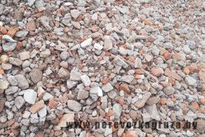 Вторичный щебень бетон+кирпич